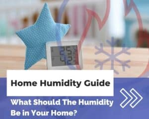 Interior of home with humidity and temperature reading
