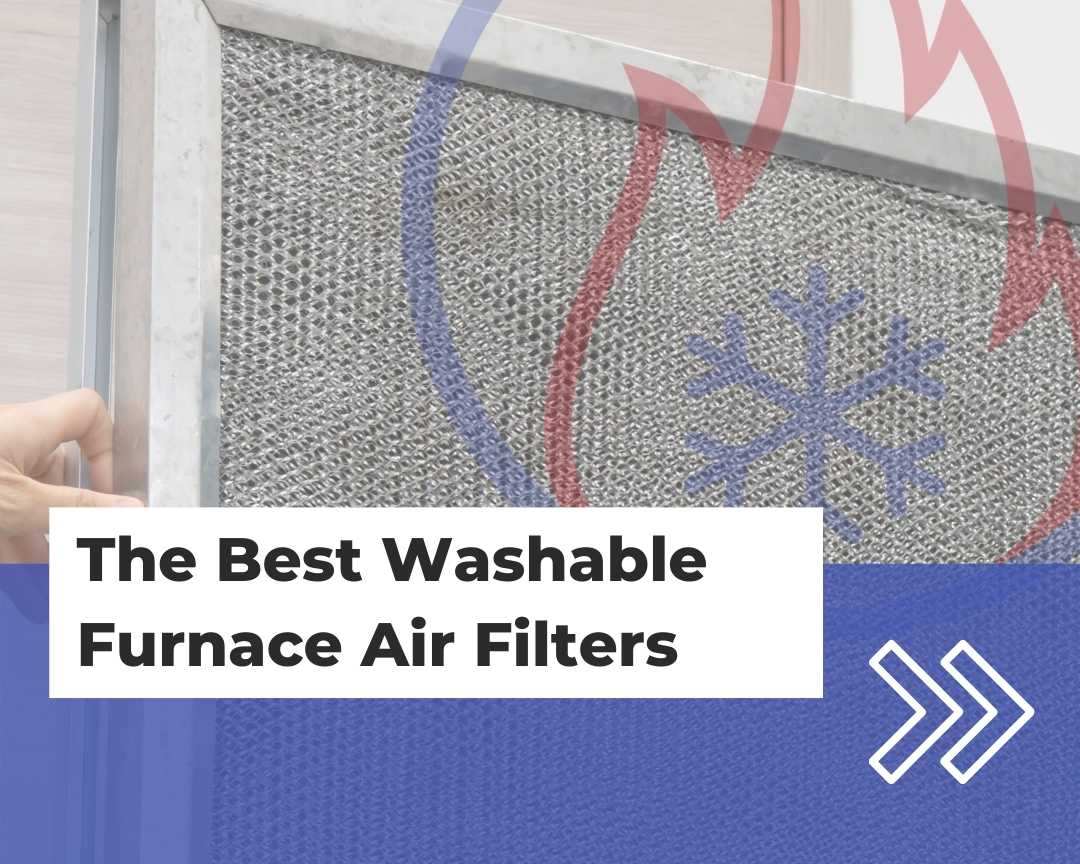 A washable furnace air filter being removed