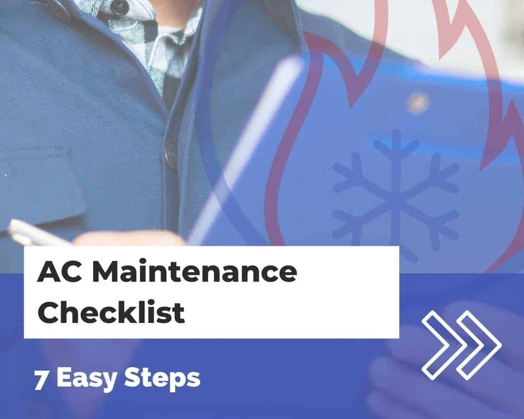 AC maintenance checklist